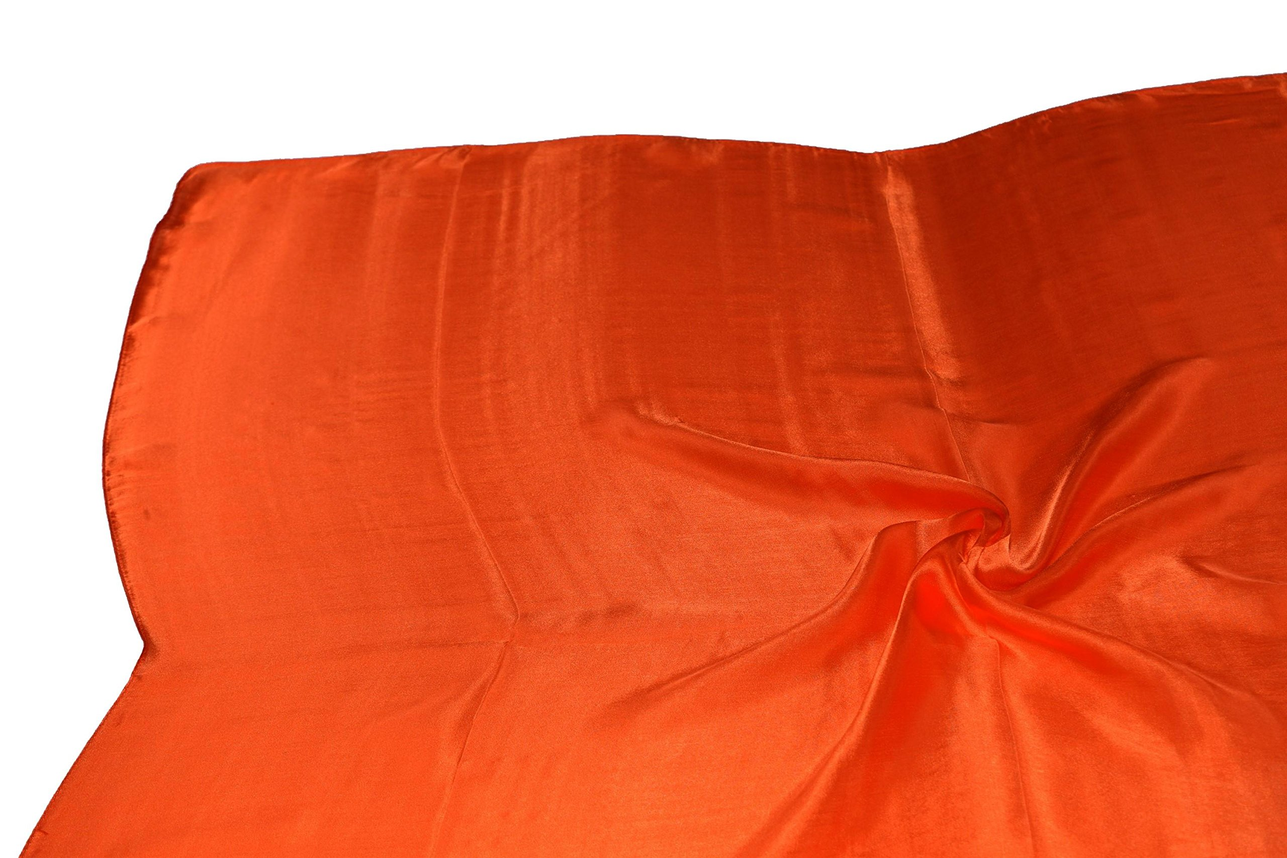 Orange Fine Silk Square Scarf by Bees Knees Fashion (Image #6)