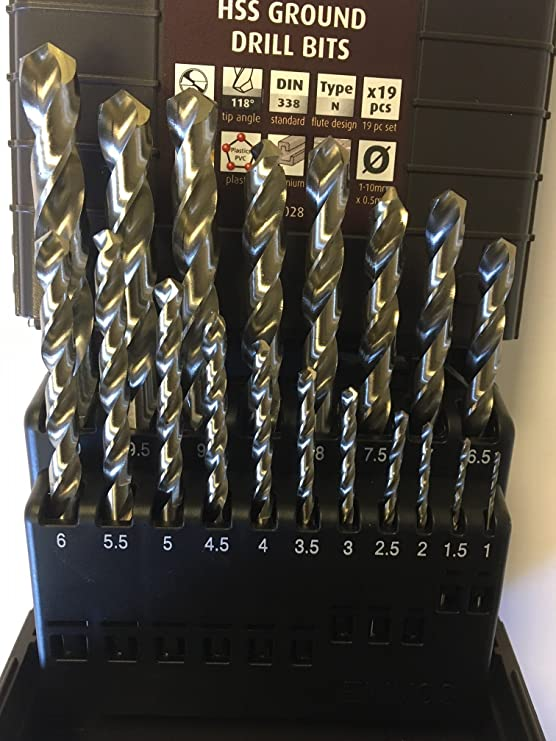 Reisser HSSGLSET5H Ground Drill Bit Set