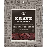 KRAVE Beef Jerky, Original Sea Salt, Gluten Free, 2.7 Ounce (Pack Of 8)