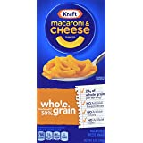 Kraft Mac & Cheese Whole Grain Macaroni & Cheese Dinner, 6 Ounce (Pack of 12)