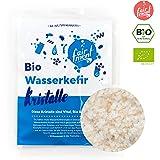 Original Wasserkefir Kristalle Starterkulturen für unendlich viel Wasser-Kefir mit Anleitung und Erfolgsgarantie von Fairment ® … (1 Liter (30g Kristalle))