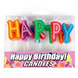 Good Living Birthday Letter Candles, 1-Pack