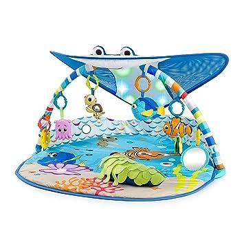 44123085b4e Amazon.com  Disney Baby Mr. Ray Ocean Lights Activity Gym  Baby
