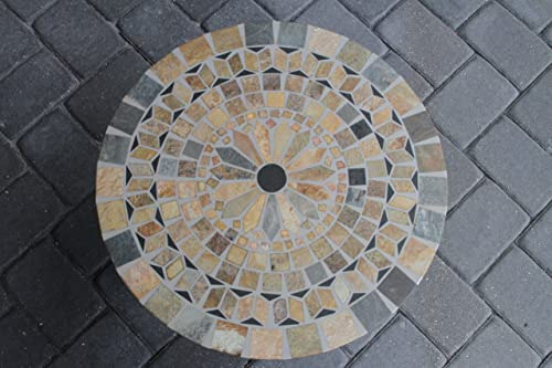 Outdoor Interiors Sandstone Mosaic Accent Table