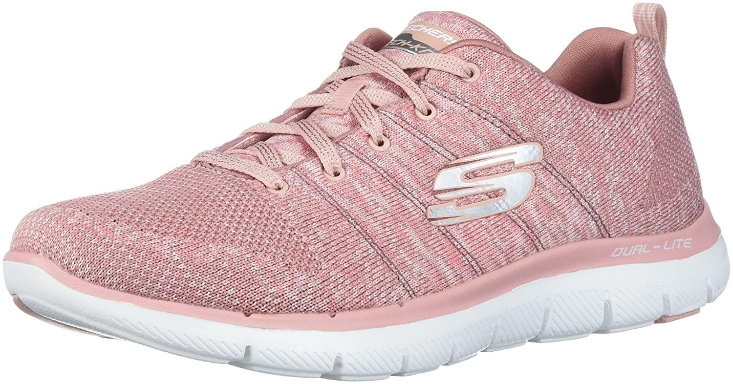 Skechers Women's Flex Appeal 2.0 Sneaker B0721KR1B3 9 B(M) US|Rose
