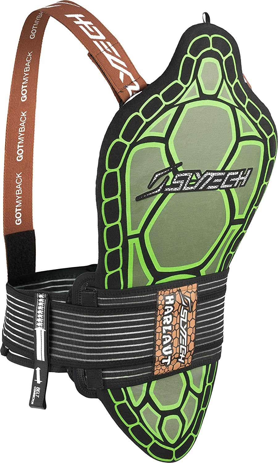 Slytech Backpro One Lite E-Dollo HH Back Protector, Green, X-Large AAS - Anomaly Action Sports YNEBPLG