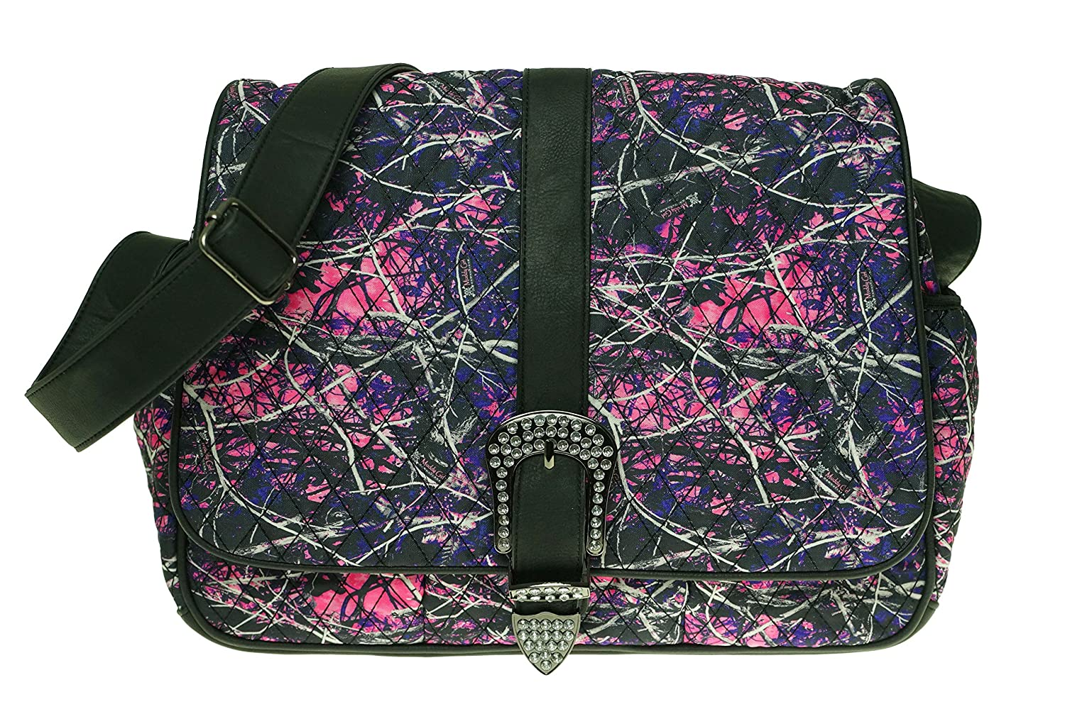 Amazon.com : Muddy Girl Pink Purple Camo Quilted Diaper Bag ... : quilted camo diaper bag - Adamdwight.com