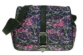 Amazon.com : Muddy Girl Pink Purple Camo Quilted Diaper Bag ... : quilted camo diaper bag - Adamdwight.com
