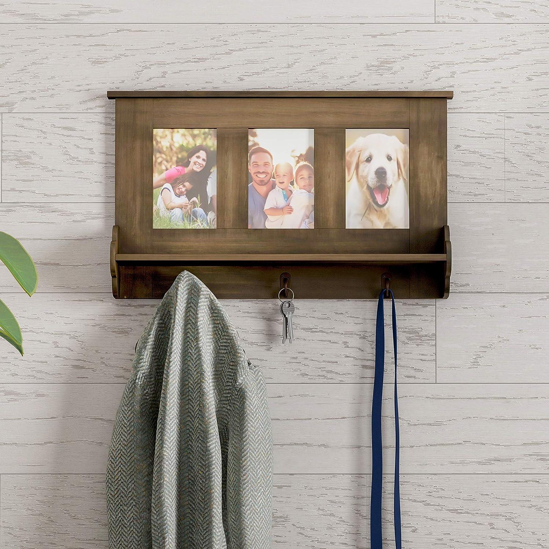 Amazoncom Lavish Home Wall Shelf Collage With Ledge And 3 Hanging