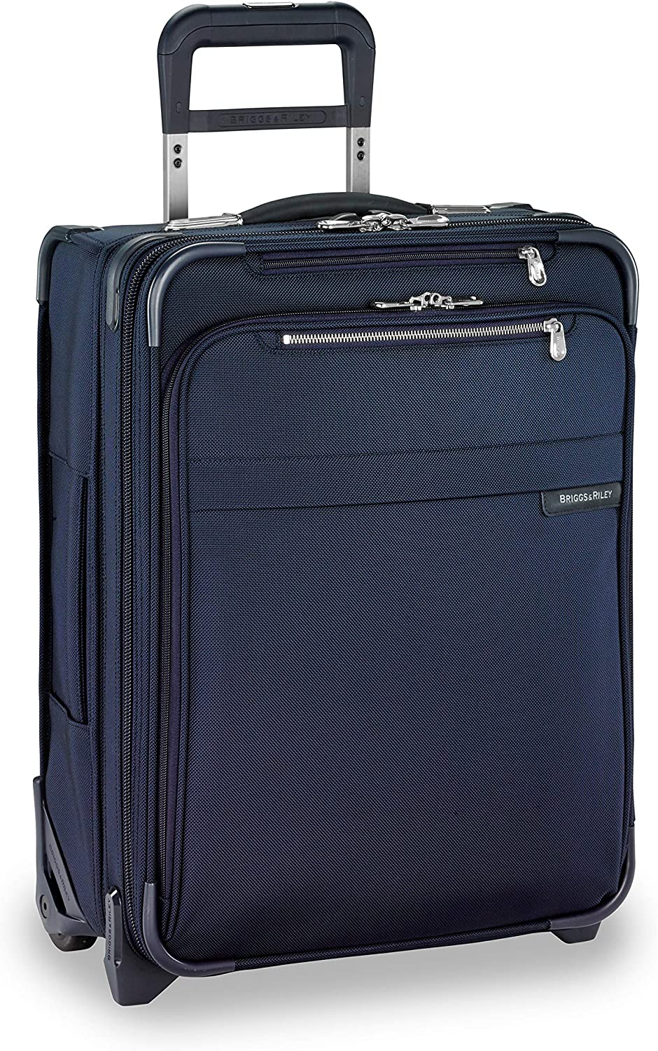 Briggs & Riley Baseline International Carry-On Expandable Wide-Body Upright Equipaje de Mano, 54 cm, 58.5 Liters, Azul (Navy)