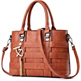 Vincico Women PU Leather Top Handle Bags Satchel Handbags
