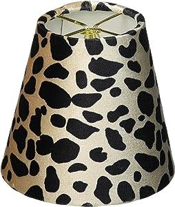 "Royal Designs Round Clip on Chandelier Lamp Shade, Burgundy Stripe, 3"" x 5"" x 4.5"", Set of 6"
