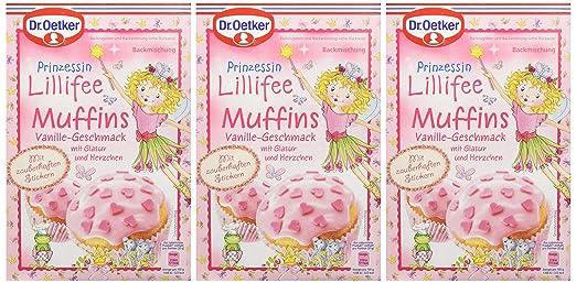 Dr Oetker Prinzessin Lillifee Muffins Vanille Geschmack 3er Pack