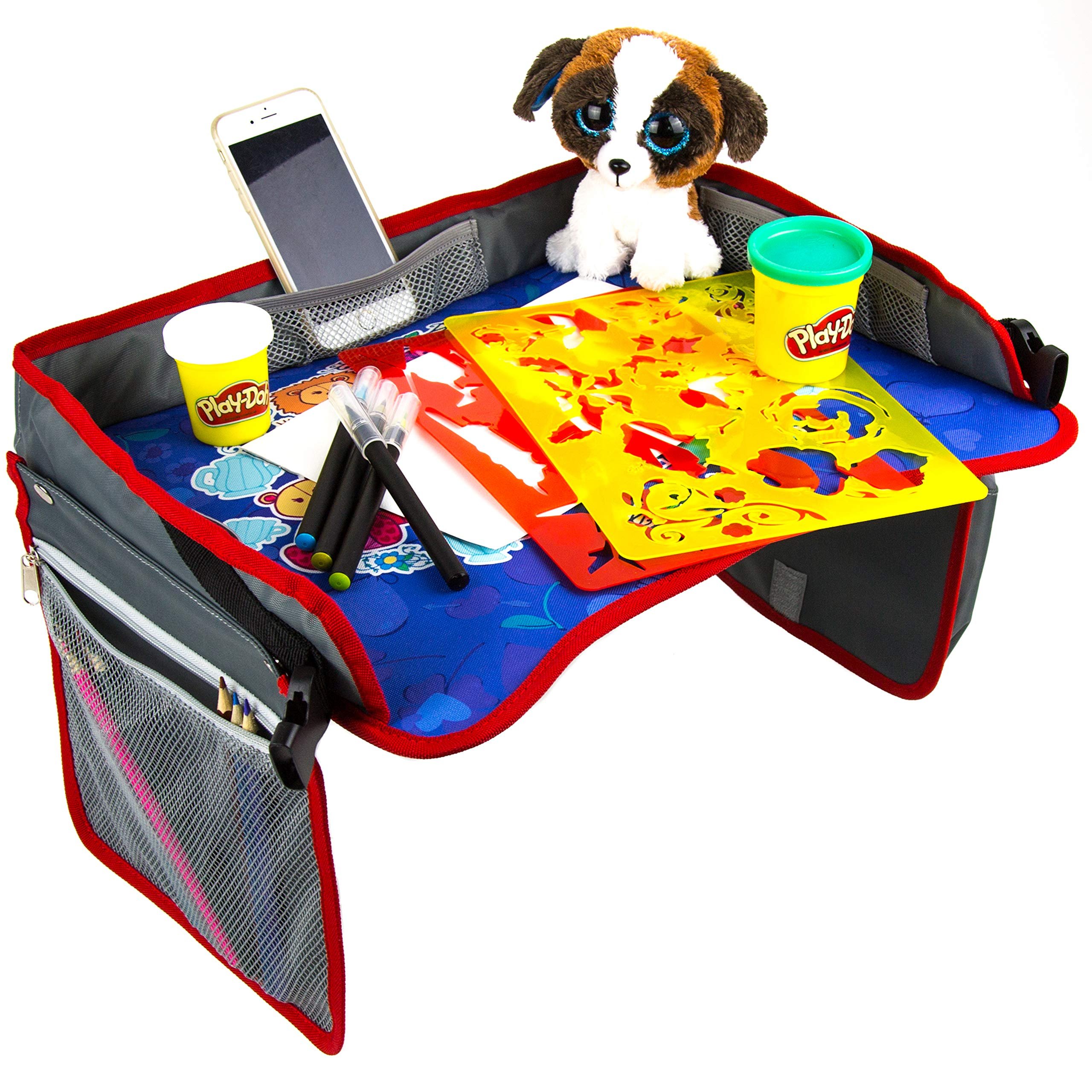 Kids Travel Tray by Matt's Baby   Toddler Car Seat Travel Tray, Play and Snack Tray for Kids, Tablet Holder   Makes Travel Fun   17 13 inches- Waterproof