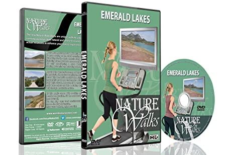 Nature Walk DVD - Emerald Lakes - for Indoor Walking, Treadmill and Jogging Workouts