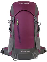 summit glory external frame hiking backpacking camping travel climbing backpack rain cover included - External Frame Hiking Backpack