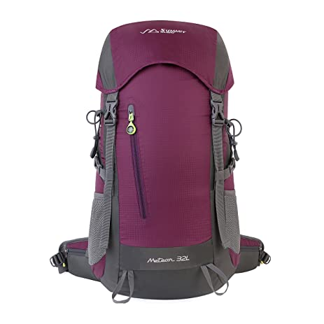 summit glory external frame hiking backpacking camping travel climbing backpack rain cover included lavender - External Frame Hiking Backpack