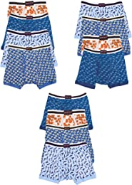 Andrew Scott Boys 12 Pack Boxer Briefs for Toddlers and Boys in Assorted Prints
