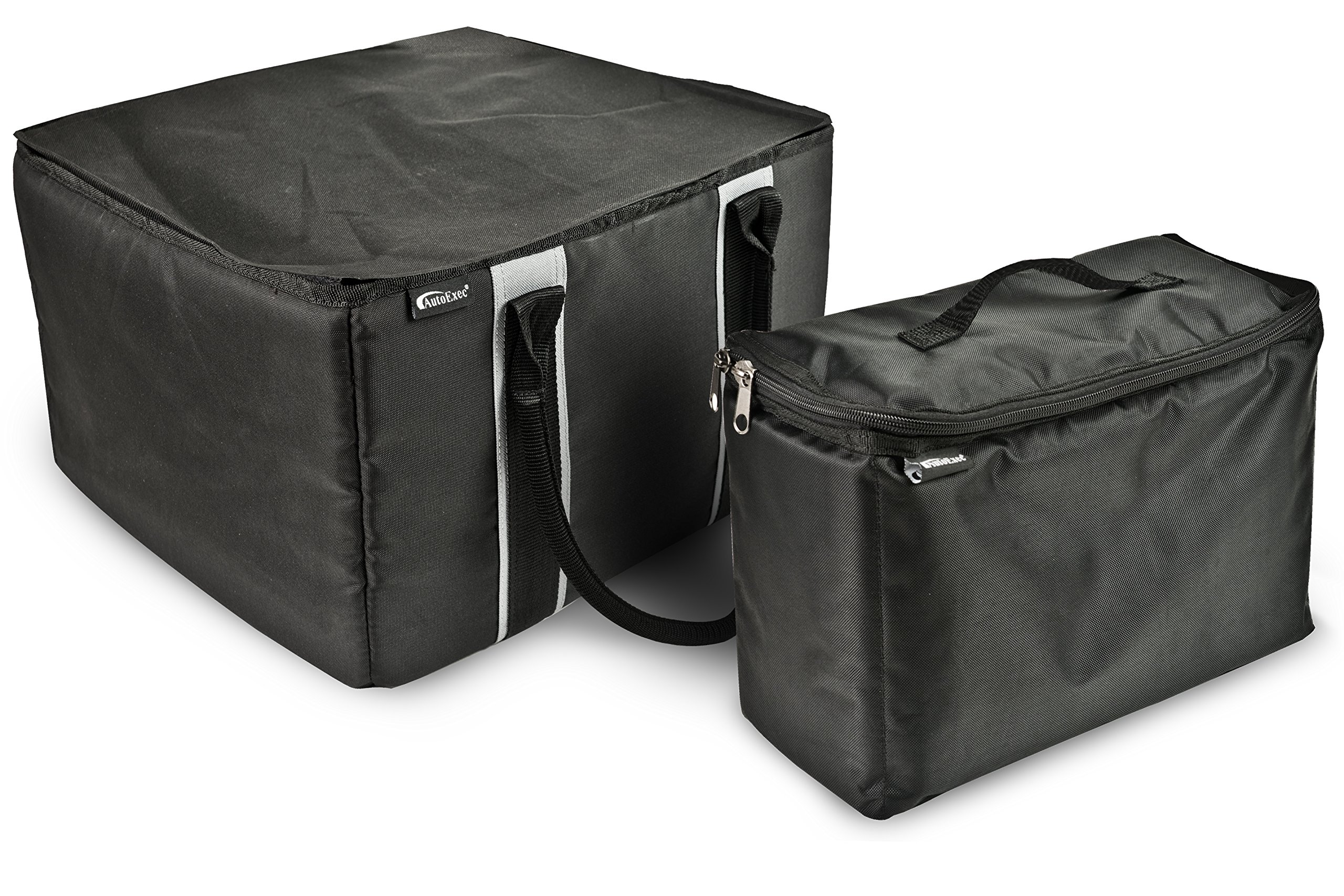 AutoExec AETote-07 Black/Grey File Tote with One Cooler