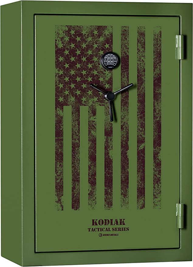 Kodiak KTF5940EX-SO Tactical Series Gun Safe by Rhino Metals, 38 Long Guns & 8 Handguns, 720lbs, 60 Minute Fire Protection, Patented Swing Out Gun Rack, Electronic Lock and Bonus Door Organizer