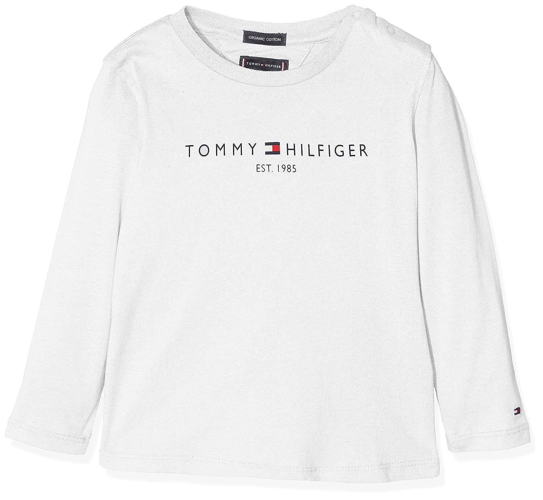Tommy Hilfiger Essential Hilfiger Tee L//S Maglia a Maniche Lunghe Bambino