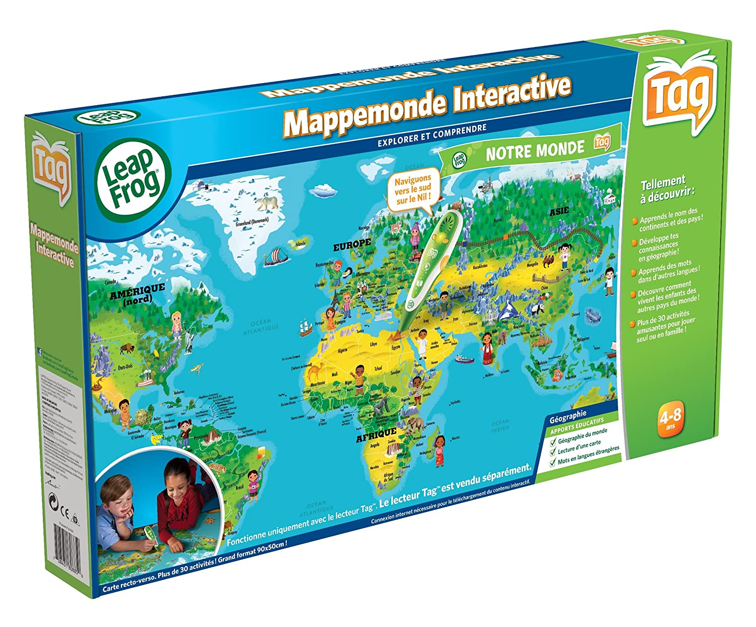 Leapfrog 80885 educational game leapreader maptag system leapfrog 80885 educational game leapreader maptag system interactive world map tag reader pen not included amazon toys games gumiabroncs Image collections