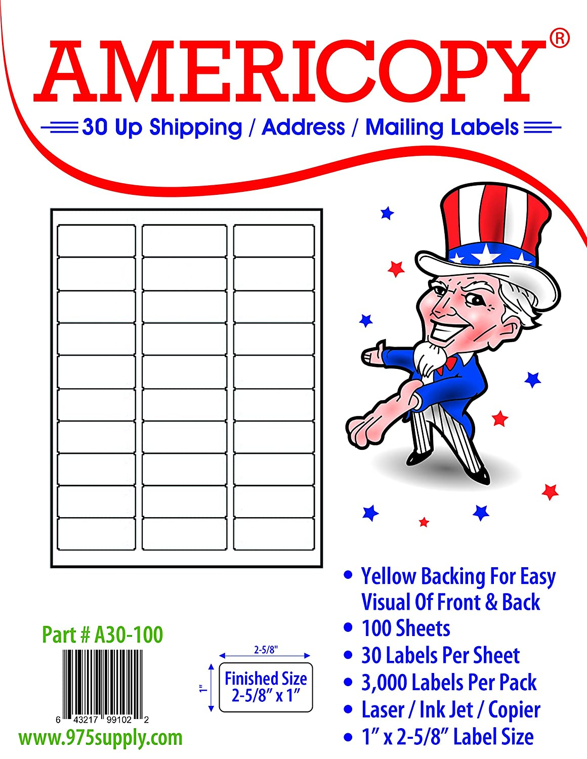 Amazon americopy 3000 blank labels name and address label 2 amazon americopy 3000 blank labels name and address label 2 58 x 1 office products robcynllc Images