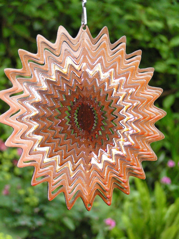 Copper Adorn Splash Laser Cut Wind Spinner