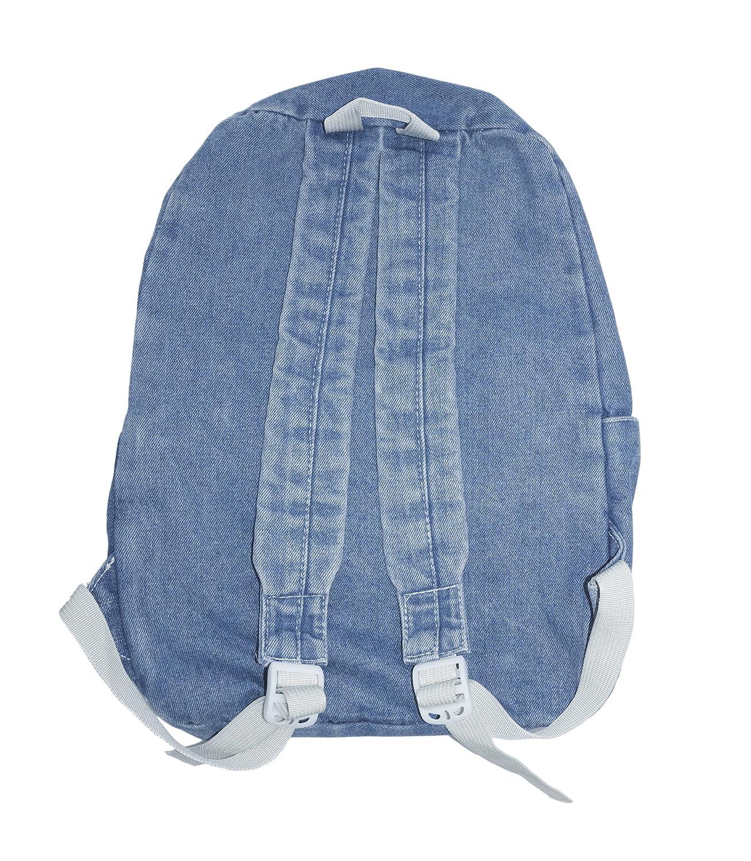6d501345c36 Amazon.com   Yunzh Classic Retro Denim Bookbags School Bag College Jeans  Backpack Casual Backpacks (Lightblue)   Kids  Backpacks