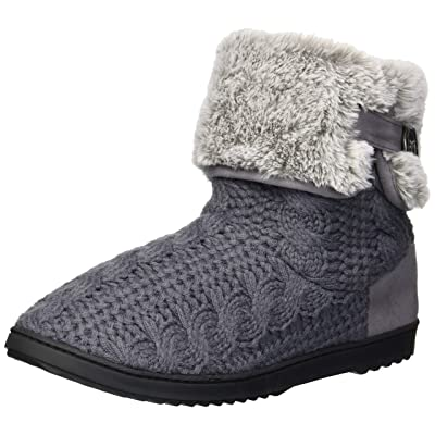 Dearfoams Women's Cable Knit Boot Slipper | Slippers