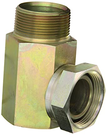 Eaton Weatherhead 9405X8X8 Carbon Steel Fitting 90 Degree Elbow 1//2 NPSM Female x 1//2 NPT Male Swivel