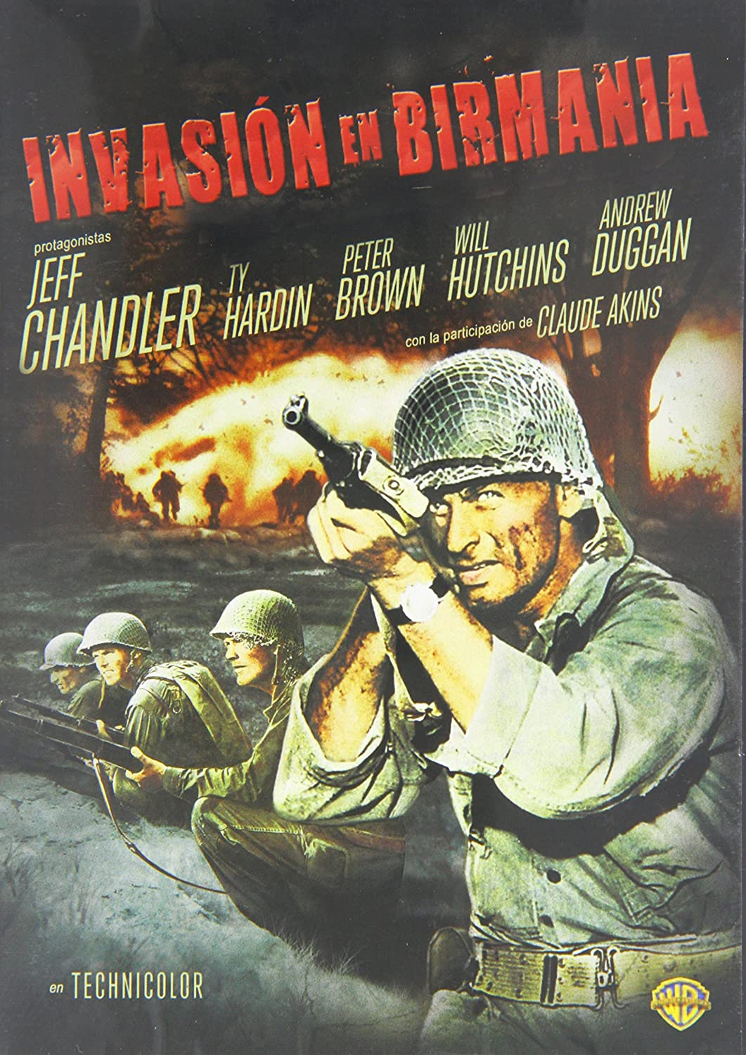 Invasión en Birmania [DVD]: Amazon.es: Jeff Chandler, Ty Hardin, Andrew Duggan, Peter Brown, Will Hutchins, Claude Akins, Luz Valdez, John Hoyt, ...