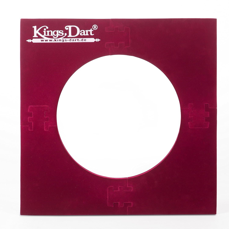 Kings Dart Auffangfeld Auffangring für Dartscheiben mit 44.5 cm - Rot , 70x70 cm RN200
