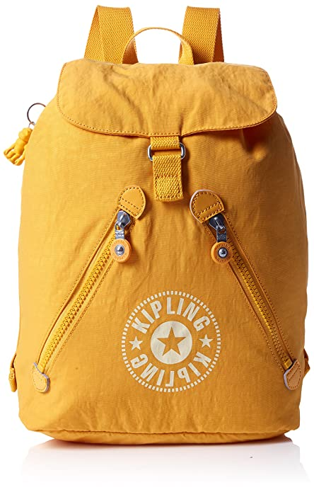 Kipling - Fundamental Nc, Mochilas Mujer, Amarillo (Lively Yellow), 16.5x42x42