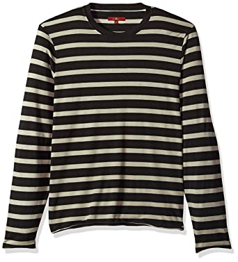 084ef43f58 Amazon.com: 7 For All Mankind Men's Long Sleeve Striped Crew Neck Tee Shirt:  Clothing