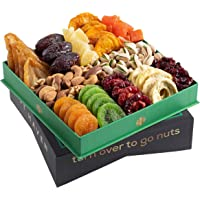 Holiday Christmas Dried Fruit & Nuts Gift Basket - Fresh Dried Fruit & Nuts Gift Basket - Fantastic Food Gift Basket for…