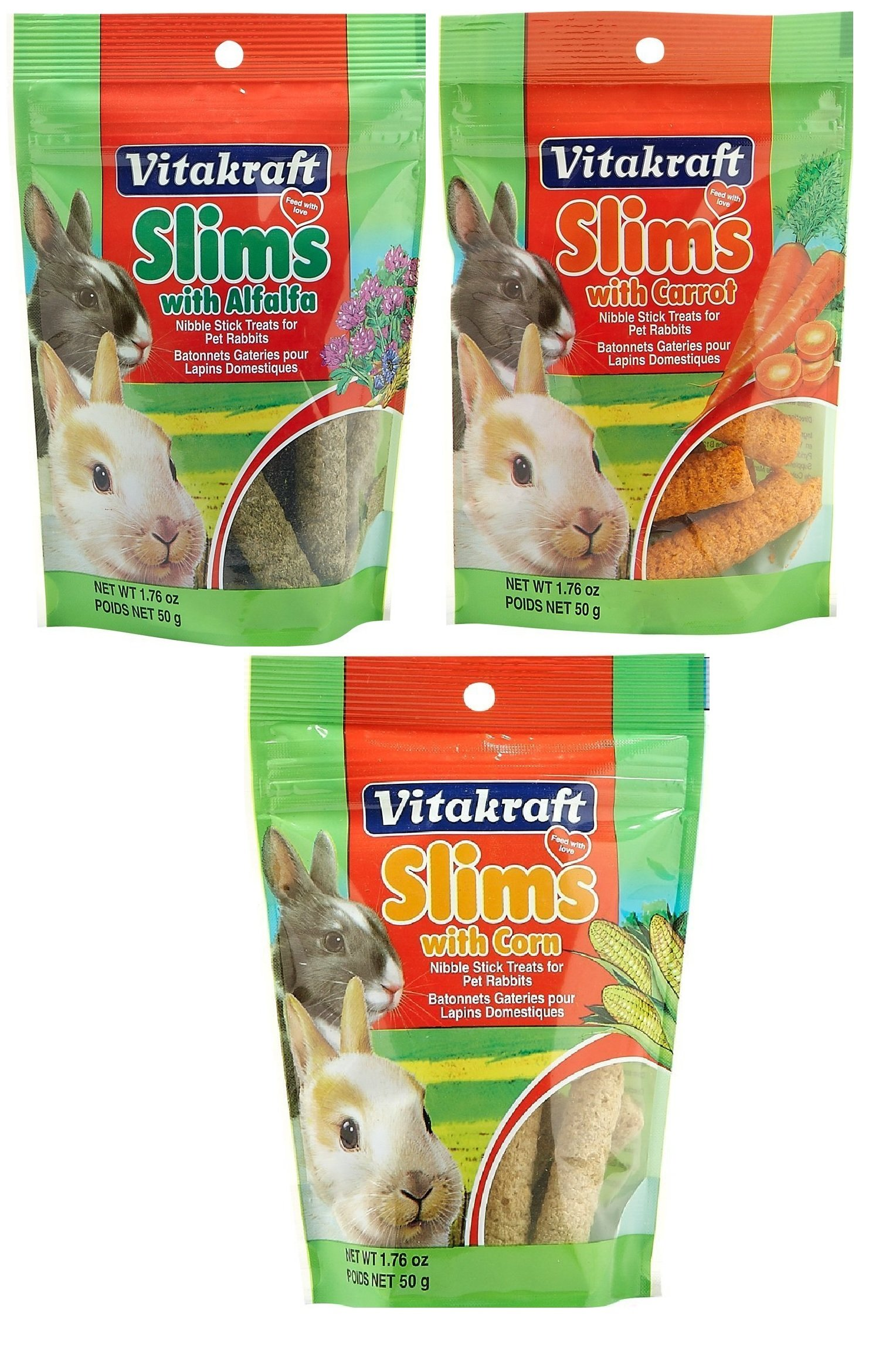 Vitakraft Pet Rabbit Slims Nibble Stick Treat Variety by Vitakraft