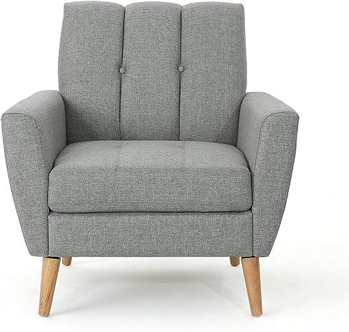 Christopher Knight Home Treston Mid-Century Modern Fabric Club Chair