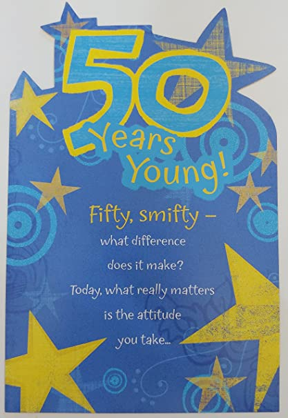 Amazon 50 Years Young Fifty Smifty Funny Humor Happy 50th