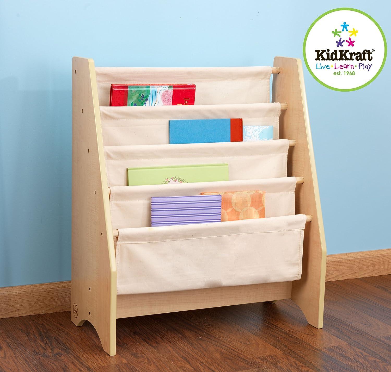 kidkraft sling bookshelf natural toys games