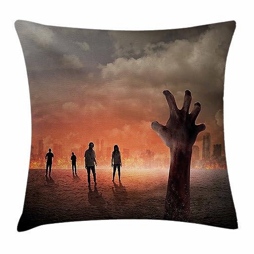 Zombie decoración manta almohada cojín por Ambesonne, mano ...