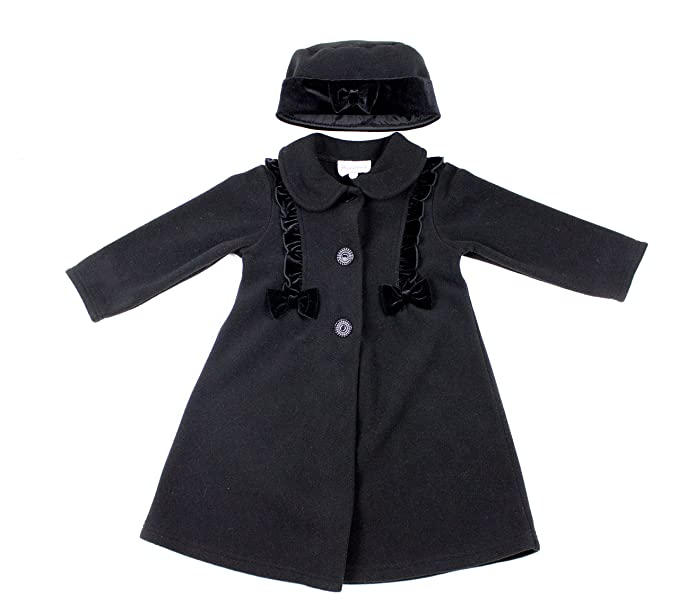 5410ddf26 Good Lad Infant Girls Fleece Coat with Scrolling on Sides and Matching Hat  (12M,