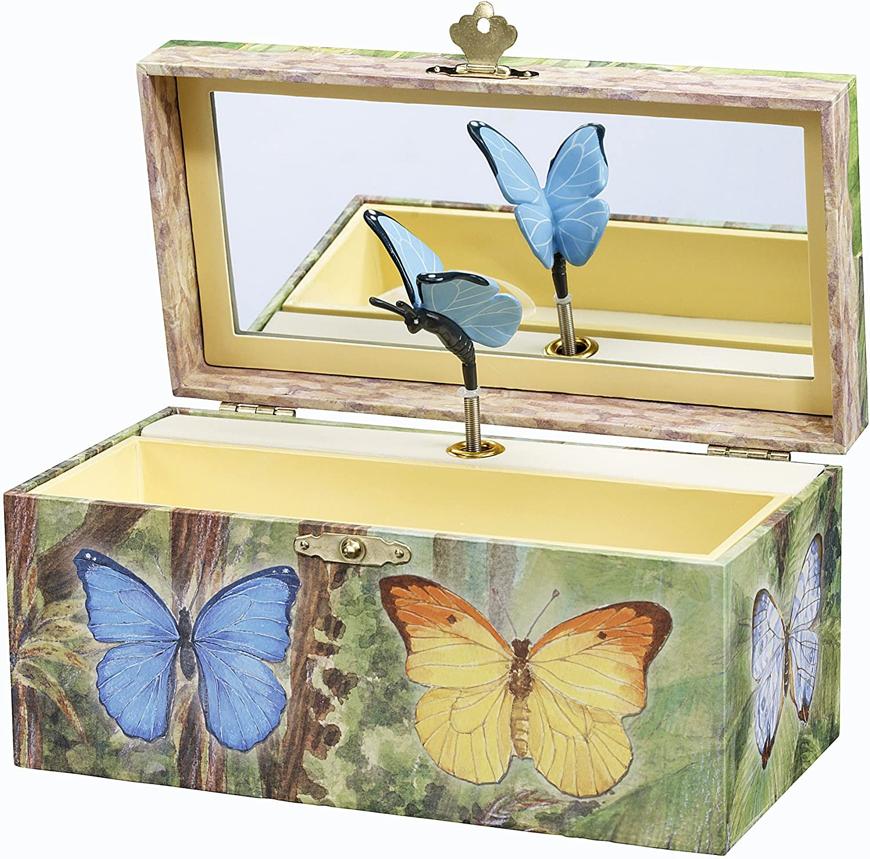 Handmade Jewelry Box Wooden Jewelry Box Floral Butterfly Jewelry Box Jewelry Box July Flowers Jewelry Box