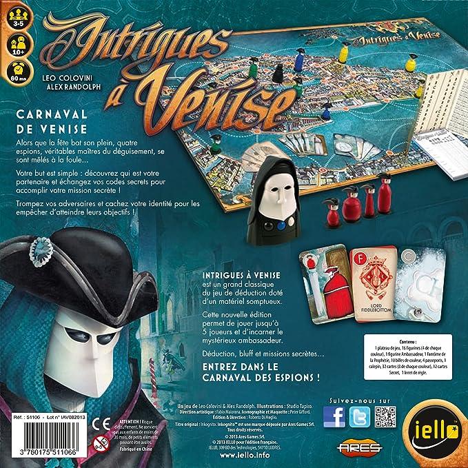 démasquer les agents secrets Votre mission Jeu de société Intrigues à Venise