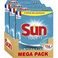 Sun Tout En 1 Tablettes Lave-Vaisselle Standard 156 Lavages (Lot de 3x52 Lavages)