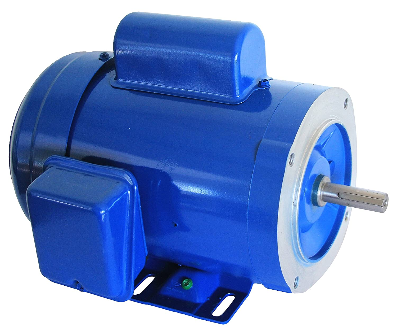 Hallmark Industries MA0505A AC Motor, 1/2 hp, 1725 RPM, 1PH/60 hz, 115/208-230V AC, 56C/TEFC, Cap Start, with Foot, SF 1.15, Steel (Pack of 1)