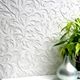 Brewster 437-RD80026 High Leaf Textured Vinyl Wallpaper