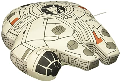 Amazon.com: Star Wars Millennium Falcon Jumbo Vehicle Plush ...