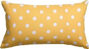 "Majestic Home Goods Citrus Ikat Dot Indoor / Outdoor Small Throw Pillow 20"" L x 5"" W x 12"" H"
