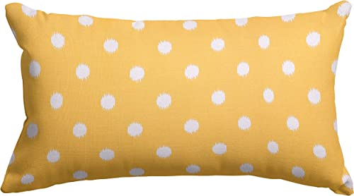 Majestic Home Goods Citrus Ikat Dot Indoor Outdoor Small Throw Pillow 20 L x 5 W x 12 H